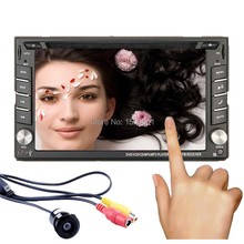 "Universal 2 Din 6.2"" In Dash Car DVD Player GPS/ Radio/FM/USB/SD/Bluetooth/TV HD digital touch screen full popular function free(China)"