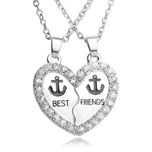 The new 2016 Europe and the United States sell like hot cakes best friends girlfriends set good friend chain anchor pendant neck