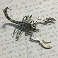 Interesting 3D animal insect Scorpion Metal Puzzle adult models educational toy 3D laser cut Christmas gift toy Boy girl kids