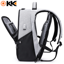 KAKA New 15.6inch Laptop Backpack Male USB Business Anti theft Backpack for Men Mochila Fashion Travel Backpacks School Bags 806(China)