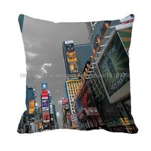 London city consturction printed customized grey cushion cover car seat decorative pillow case 45x45cm 40x40cm
