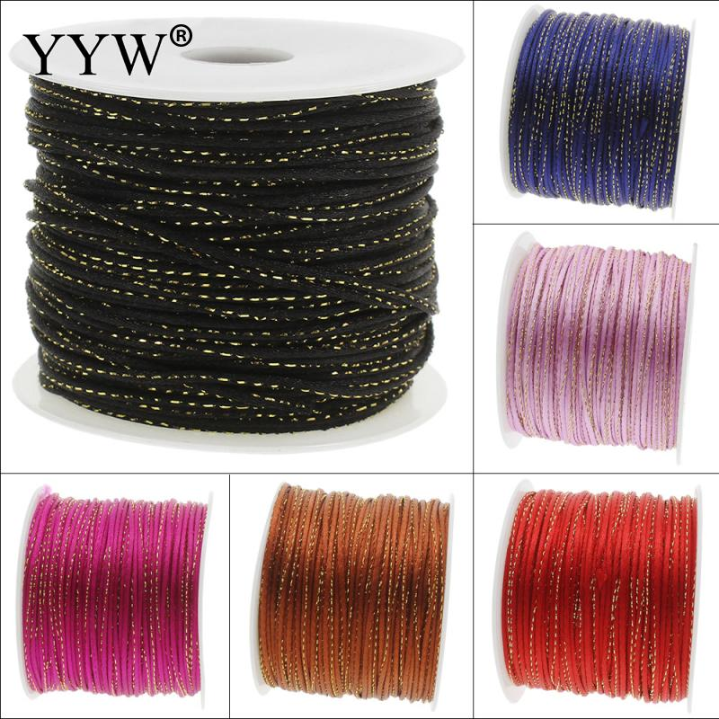 100Yards/Spool 2mm Nylon Cord Thread Cord Plastic String Strap DIY Rope Bead Necklace Shamballa Bracelet Jewelry Making(China (Mainland))