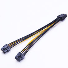 20CM PC Power Supply PCI e Molex 8 pin to Dual PCIe 8pin 6+2pin PCI Express Power Splitter Cable for Bitcoin Litecoin RIG Miner