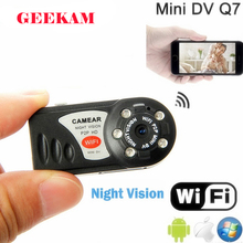 Buy GEEKAM Q7 Mini Camcorder Wifi DVR Wireless IP Camcorder Video Recorder CMOS Infrared Night Vision Mini Camera TF card PK SQ11 for $12.91 in AliExpress store
