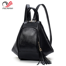 Women's Bag 2017 New Soft Leather Backpack Shoulder Bag Casual Shoulder Bag Female Multifunction Designer Women Tote Backpacks