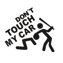 Don't Touch My Car Funny Car Sticker Waterproof Vinyl Body Bumper Decal car-styling Stickers Car Accessories For Ford Focus Kia(China)