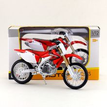 Maisto/1:12 Scale/Simulation Diecast model motorcycle toy/ Honda CRF450R Supercross/Delicate children's toy/Colllection