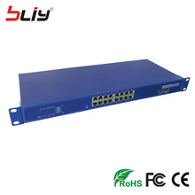 48V 16 POE port switch fiber optic 16 rj45 poe ports + 2 sfp 19'' chasis fiber optic poe networking media converte for IP camera(China)