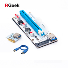 3 in 1 4pin molex pci-e riser 008 card 6pin riser sata 60cm pcie 1x to 16x pci express riser card for antminer bitcoin miner(China)