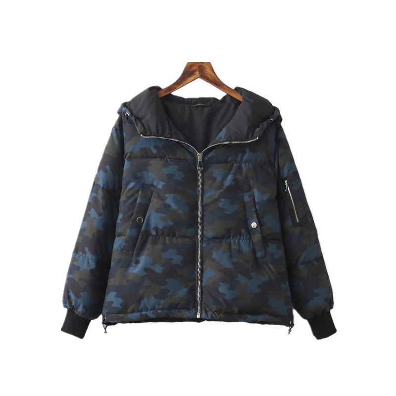 New Winter Camouflage Printed Cotton Padded Clothes Europe Winter Coat Women Jacket Parka Women Jackets Xdn8164Одежда и ак�е��уары<br><br><br>Aliexpress