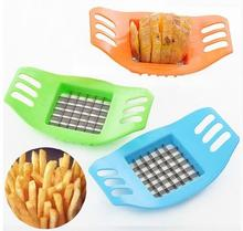 1 Pieces New PVC + Stainless Steel French Fry Fries Cutter Peeler Potato Chip Vegetable Slicer Cooking Tools(China)