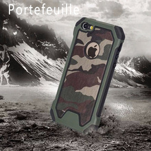 Portefeuille For iPhone 6s Defender Shockproof Armor Hybrid Rugged Camouflage Case Cover for Apple iPhone 6 6S Accessories capa