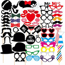 58pcs/Set New Design Colorful Fun Lip Wedding Decoration Photo Booth Props Wedding Party Decoration Mariage Wedding Gifts