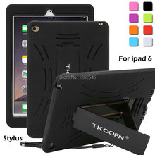 Shockproof Heavy Duty Case Rubber Hybrid Cover Stand for Apple iPad Air 2 For ipad 6