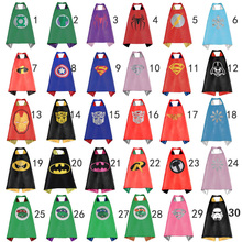 Kids capes double side Superhero capes Hulk Batman superman darth vader Robin Thor black cape super hero Children Party Costumes
