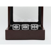 No Profiting For 1976/1980/1983 Replica Super Bowl Oakland Raiders world Championship Rings 3 Years Sets with Wooden Boxes(China)