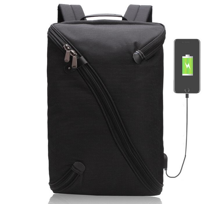 Poesechr Multifunction USB charging  Laptop Backpacks For Teenager Fashion Male Mochila Leisure Travel anti theft backpack    <br>