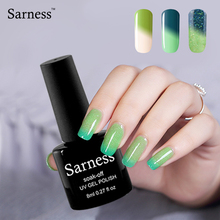 Sarness Products Led Gel Lacquer Cold Nice Nail Gel Polish Enamel Nail Temperature Change Colors UV Gel(China)