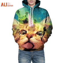 Unicorn Hoodies 3D Cats Clothing Galaxy Space Sweatshirts For Men Women Pusheen Cat Sweatshirts Kitty Pullovers Sudaderas