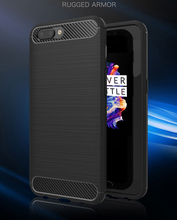 "Soft Silicon Shockproof Luxury Brushed Case with Texture Carbon Fiber Design Protection Cover For Oneplus 5 A5000 5.5"" 2017 New"