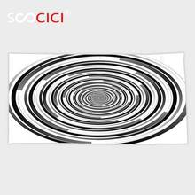 Custom Microfiber Ultra Soft Bath/hand Towel,Spires Decor Digital Spinning Hypnotic Focus Vortex Circle Cosmos Concept Computer(China)