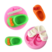3D Cute cake Silicone Bakeware Mold shoes shape DIY Chocolate Fimo Clay Candy Pastry Decor Fondant Baking