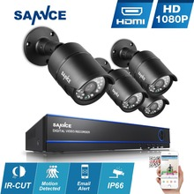 SANNCE 8CH HD 1080P CCTV System 2MP Home Security Cameras 1920*1080P Outdoor waterproof CCTV Video Surveillance System diy kit
