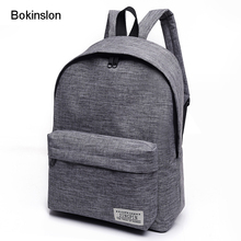 Bokinslon Women Backpack Man Popular Solid Color Backpack For Woman School Bag College Wind Small Fresh Fashion Men Backpack(China)