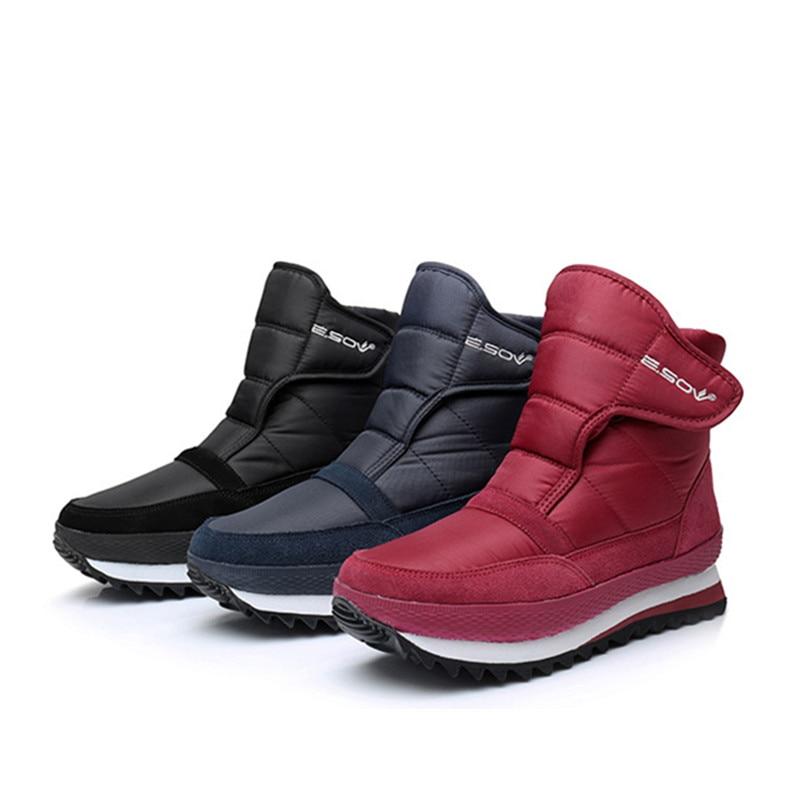 35-45 Plus Size Winter Woman Snow Boots Ankle Waterproof 2018 New Winter Female Warm Shoes Non-slip Plus Velvet Snow Boots Short