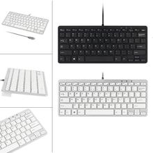 2017 Top sale New Ultra Thin Slim 78 Key Wired USB Mini PC Keyboard for PC Apple Mac Laptop durable prevent short circuit(China)