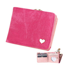 Denim Women's Short Style Wallet Credit Card Lovely Holders ID Business Card Purse Coin Pouch Bags Accessories Supplies Product(China)