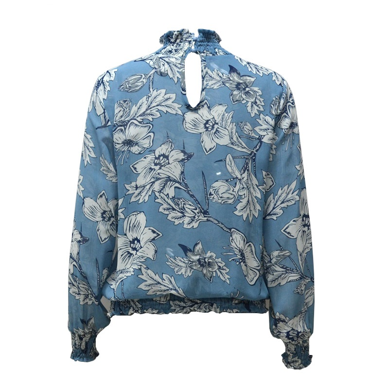 LASPERAL Chiffon Shirt Women Long Sleeve Blouse Top Fashion Vintage Floral Print Blouse Shirt chemise blusa feminina Top 2018 11