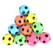 Hot Selling 10Pcs Random Color Bouncing Football Soccer Ball Rubber Elastic Jumping Kid Outdoor Ball Toys Gifts for kids(China)
