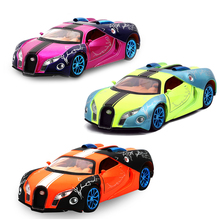 Collectible Fast & Furious Bugatti Veyron 1/32 Metal Alloy Diecast Cars Electronic Flashing Pull Back Cars Model Toys For Kids(China)