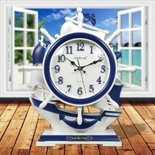 Crafts Arts Home decoration The clock stylish decoration creative Mediterranean Sea style ornaments of blue and white children q
