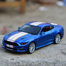 Mustang 1:24 Model Car 2015 Mustang GT Blue 1:24 Metal Racing Vehicle Play Collectible Models Sport Cars toys For Gift