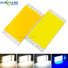 Big Promotion 94x50mm Ultra Bright 15W LED COB Strip Lamp Lights Chip On Board Warm Pure White Blue Lighting Source for DIY Bulb