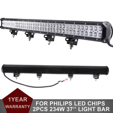 "2pcs 234W 37"" Offroad LED Light Bar Combo 12V 24V Car Truck SUV 4WD 4X4 ATV Yacht Trailer AWD VAN Camper Pickup Wagon Headlight"