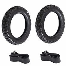 MYMOTOR 2 Sets of 3.00-10 (80/100-10) Motorcycle Tire And Inner Tube For HONDA XR CRF 70 50 XR50 SDG SSR Dirt Pit Bike Scooters(China)