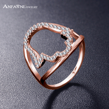 ANFASNI Unique Rings With Many Pieces 0.01ct Marquise Cut CZ Stone Rose Golden Color Jewelry CRI1071(China)