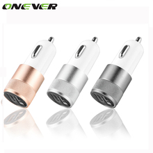 Dual USB Car Charger AAdapter 12V 2.1A 1A 3 Colors Charger For iPhone 5 6 plus ipad 2 3 4 Samsung Galaxy S4 S5 Tablet Charger