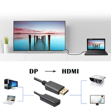 25cm Display Port DP Male to HDMI Female Video Converter Adapter Cable Connector for Dell Monitor for HP PC Computer notebook