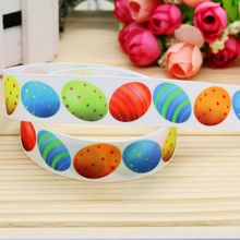 7/8'' Free shipping easter printed grosgrain ribbon hairbow headwear party decoration diy wholesale OEM 22mm P5082(China)