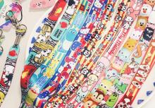 10Pcs Popular Cartoon tsum mickey minnie kitty mixed Neck Straps Lanyards Mobile Phone,ID Card,Key Condole belt Mixed