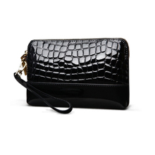 stone grain travel toiletry bag brand patent leather women cosmetics bag ladies makeup bag cowhide fashion female cosmetic case(China)