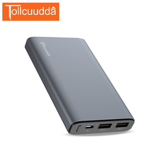 TOLLCUUDDA 10000mAh Portable Battery Pack 18650 Battery Power Bank External Charger PC+APS Powerbank Universal For Smartphone(China)