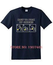 How To Pick Up Chicks novelty gag gift guys gift idea mens very funny T Shirts(China)