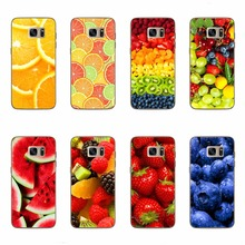 Fruit Cases For Samsung Galaxy S5 S6 S7 Edge A3 A5 J5 J7 A310 A510 J510 J710 Grapes Strawberry Watermelon Fruit Phone Cover Case(China)