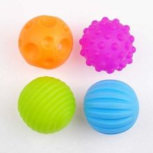 4Pcs Soft Plastic Colorful Baby Kids Message Secure Ocean Ball Toys Sound Ball Infant Kid Girls Boys Gifts