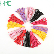 Crude 1.5cm Height 8cm 2pcs/bag PU Leather Tassel Pendant DIY Handmade Jewelry Production Search(China)